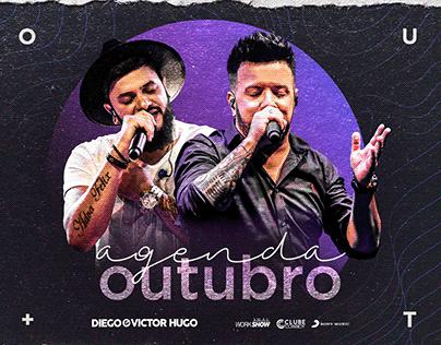Agenda Outubro - Diego & Victor Hugo