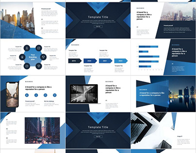 BLUE PROPOSAL ANNUAL REPORT POWERPOINT