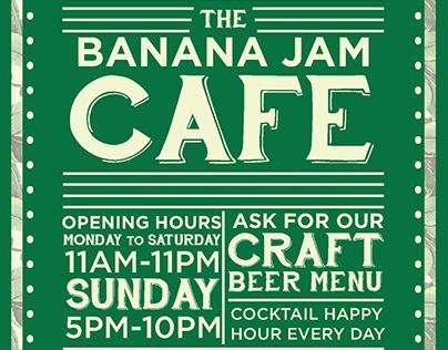 Banana Jam Cafe Menu re-design Concept