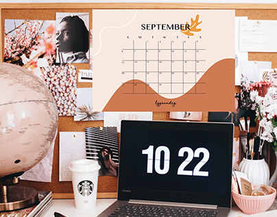 Freebie September Calendar Digital Download