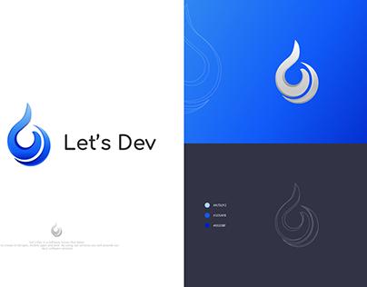 Let's Dev Logo Design