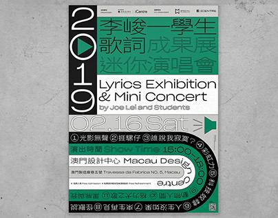 Lyrics exhibition Mini Concert