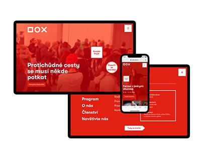DOX Center for Contemporary Art – website redesign