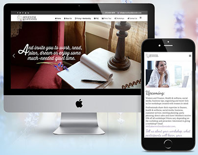 Seventh + Lavender Website Design and Photography