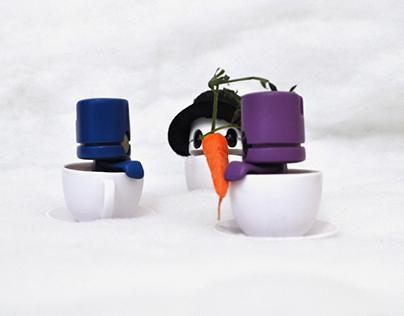 Building A Snow Cuppa - Ad Photo for Matt JOnes