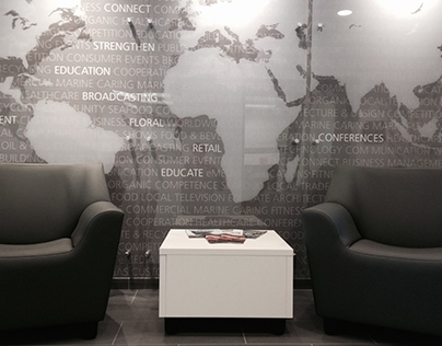 Diversified Communications Lobby Mural