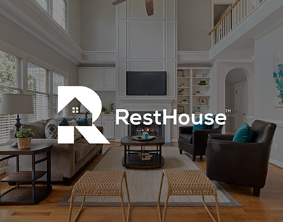 RestHouse Logo design   Real estate branding project