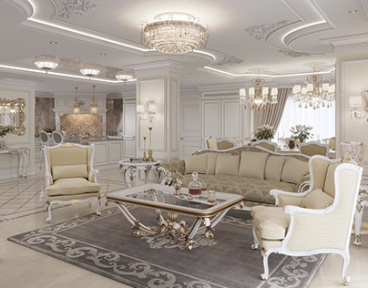 Classic interior 3D visualization