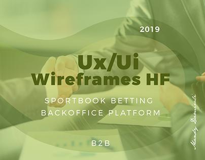Wireframe HF - Backoffice Platform