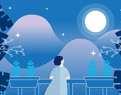 The Moon - Motion Graphic Animation