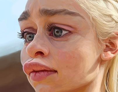 Deanerys Targaryen Khalessi caricature