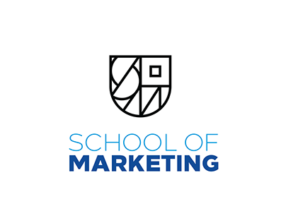Hilton the School of Marketing Logo Concept