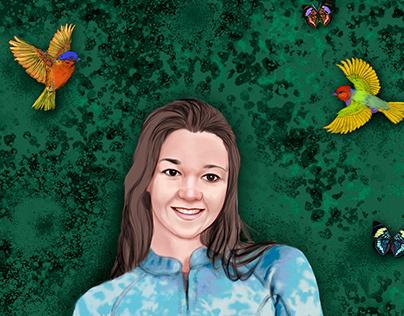 Retrato personalizado - Alicia
