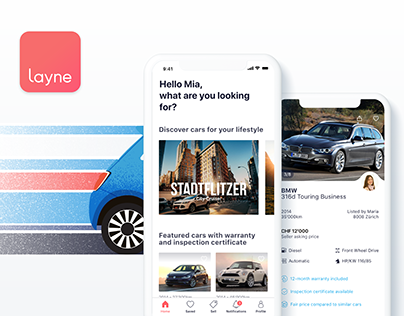 Buy and sell used cars! Layne IOS App.