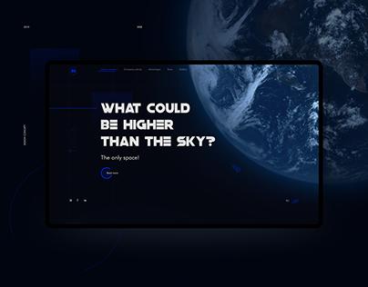 Website design concept. Space