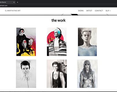 Built AWebsite for My Fine Art Portfolio