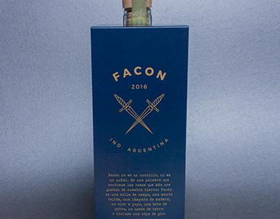 Packaging label Príncipe de los Apóstoles Gin & Facón