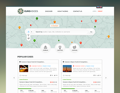 Euro Voices - Branding + Website Ui / Ux