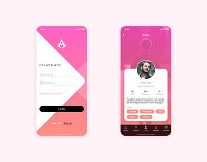 Login I Profile screens UI design