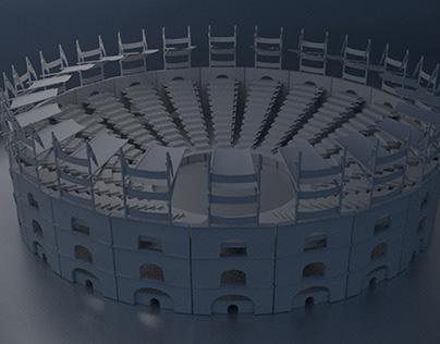 3 D Modeling Gladiator Arena