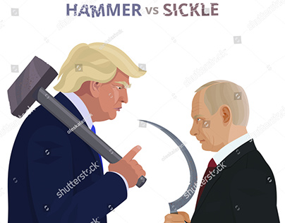 Donald Trump and Vladimir Putin. Hammer vs Sickle.