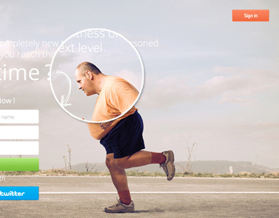 Fitnass Landing Page