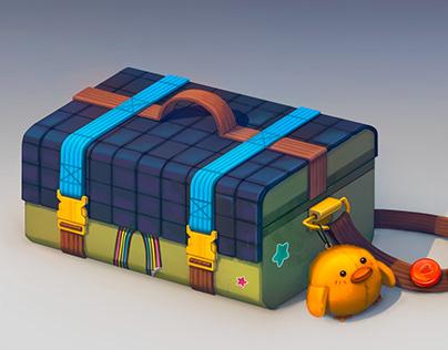 Artist's suitcase