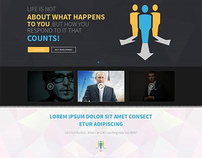 Life Coaching Theme Web Design