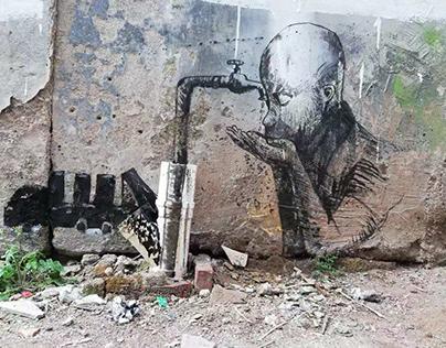 Drinking youth Street art graffiti