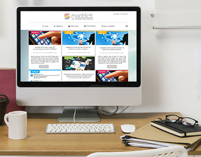 Maddict Blog page design