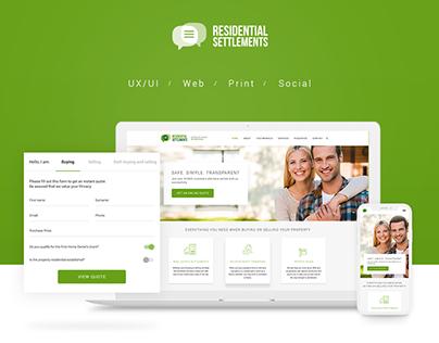 Residential Settlements Website & Branding - Australia
