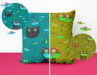 Cats Textile Pattern