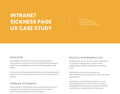 Intranet Page UX Design