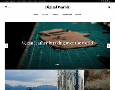 Online Magazine: Digital Warble