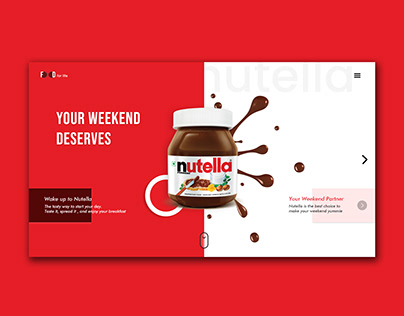 Nutella Landing Page Concept
