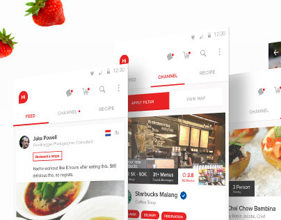 Hifoodies - Culinary Social Media App [Prototype]