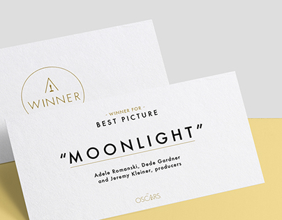 The Oscars Winners Card Redesign Proposal
