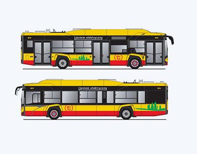 Pomysł na hasła i grafikę ekologicznych autobusów ZTM