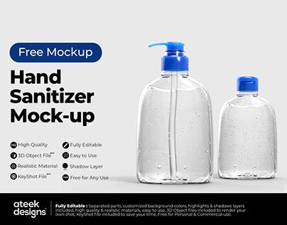 Hand Sanitizer - Free Mockup