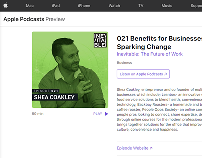Shea Coakley on Inevitable: The Future of Work