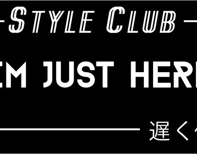 Style Club Bumper Sticker