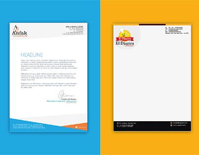 Letter header design