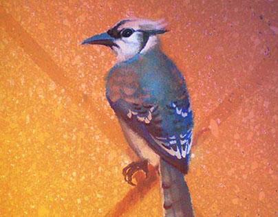 """children's mural """"Ornithology"""""""