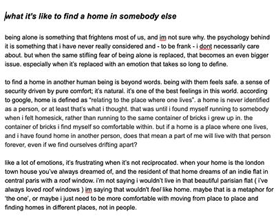 Written piece for Undergrad Magazine