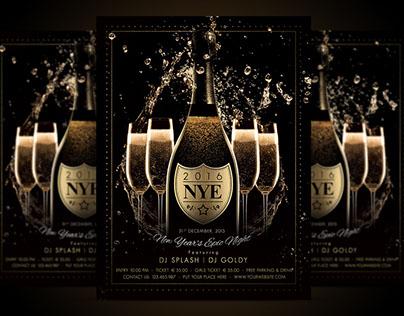 NYE New Year Flyer - Champagne Night