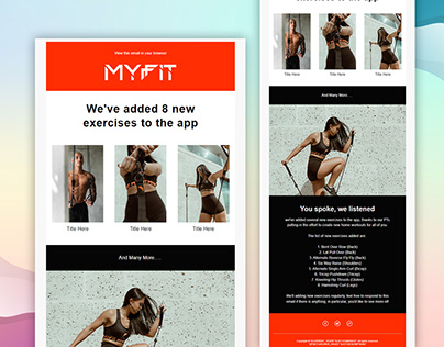 MyFit | MailChimp Email Template