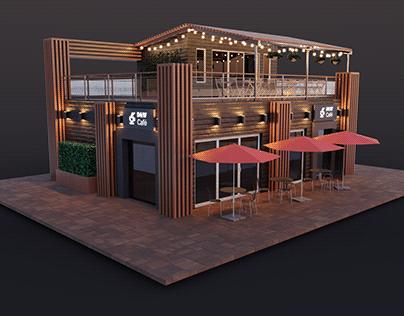 ArchViz VR / D&W CAFE / realtime rendering -UNITY