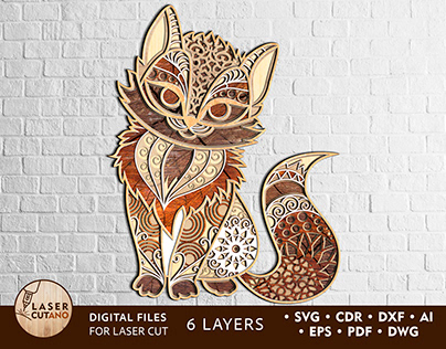 Multilayer Laser Cut File KITTY for Cricut, CNC