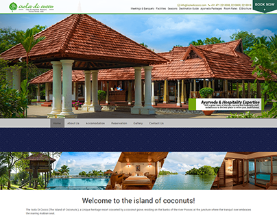 Resort WordPress website theme design