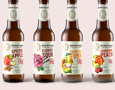 Hermitage American Sour Beer Package Design